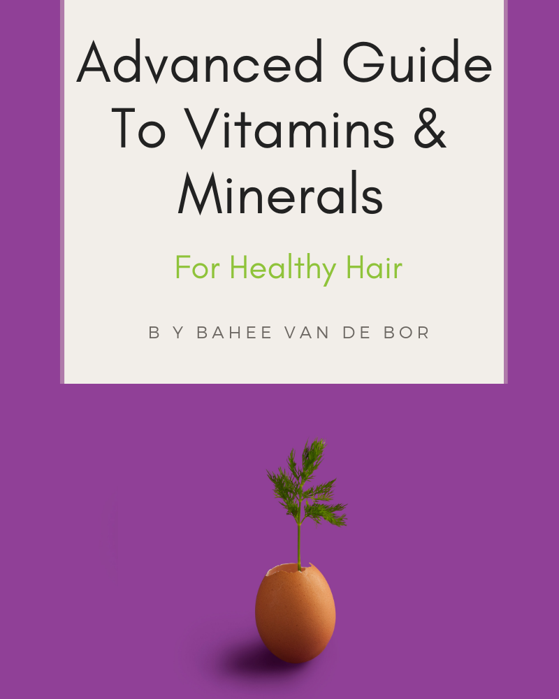 biotin, zinc and iron are important nutrients for healthy hair