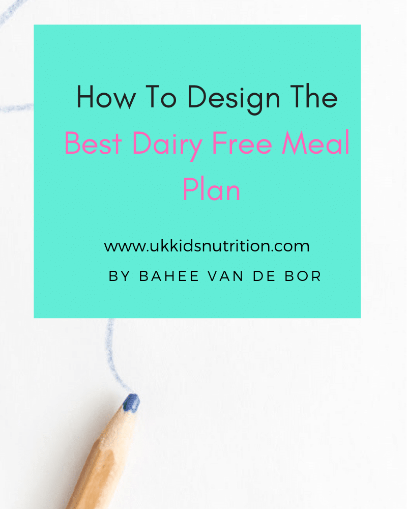 dairy free meal plan