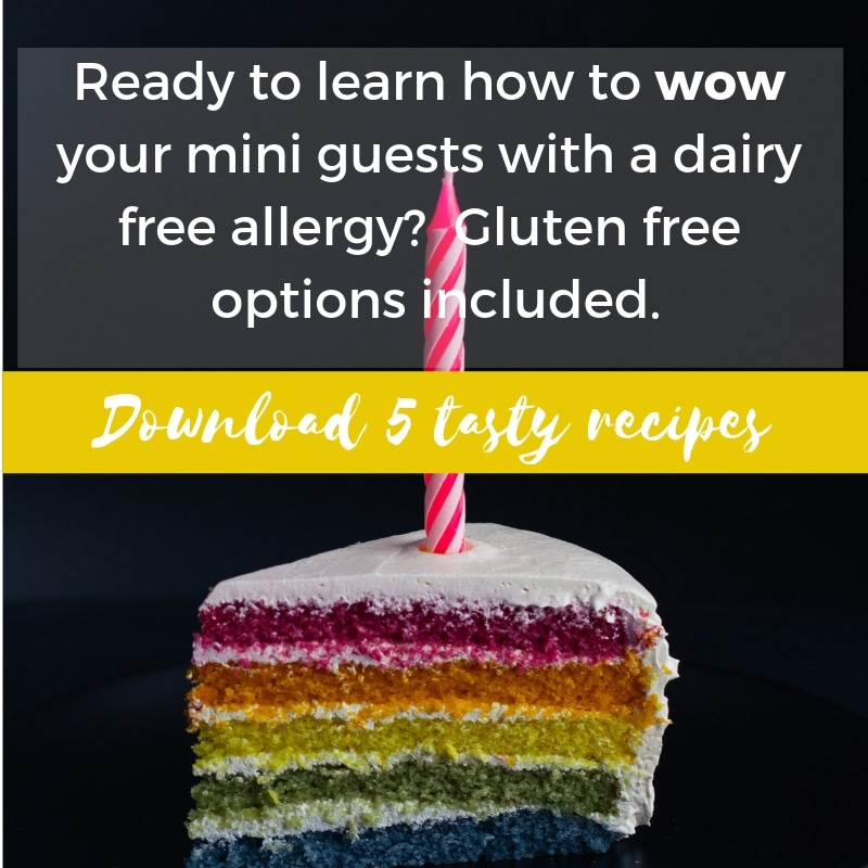 dairy free recipes for kids birthday party