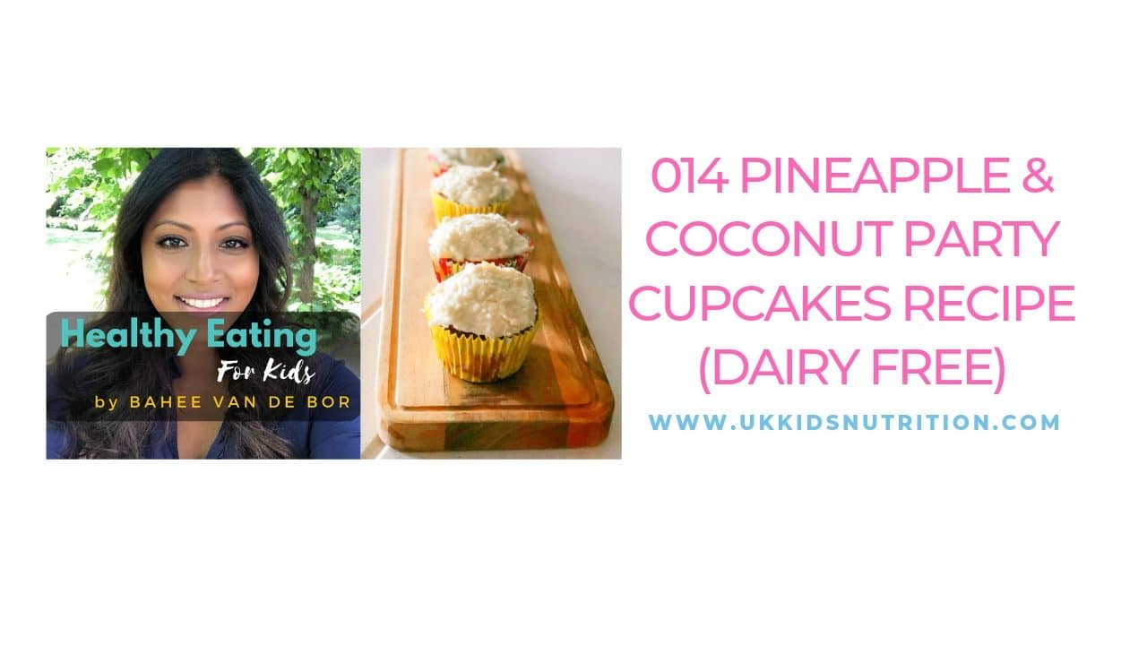 Pineapple and coconut party cupcakes recipe (dairy free)