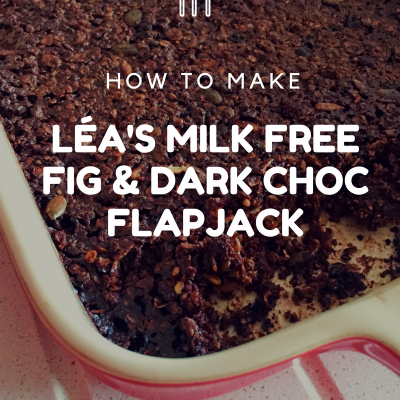 LÉa's milk free fig & dark choc flapjack